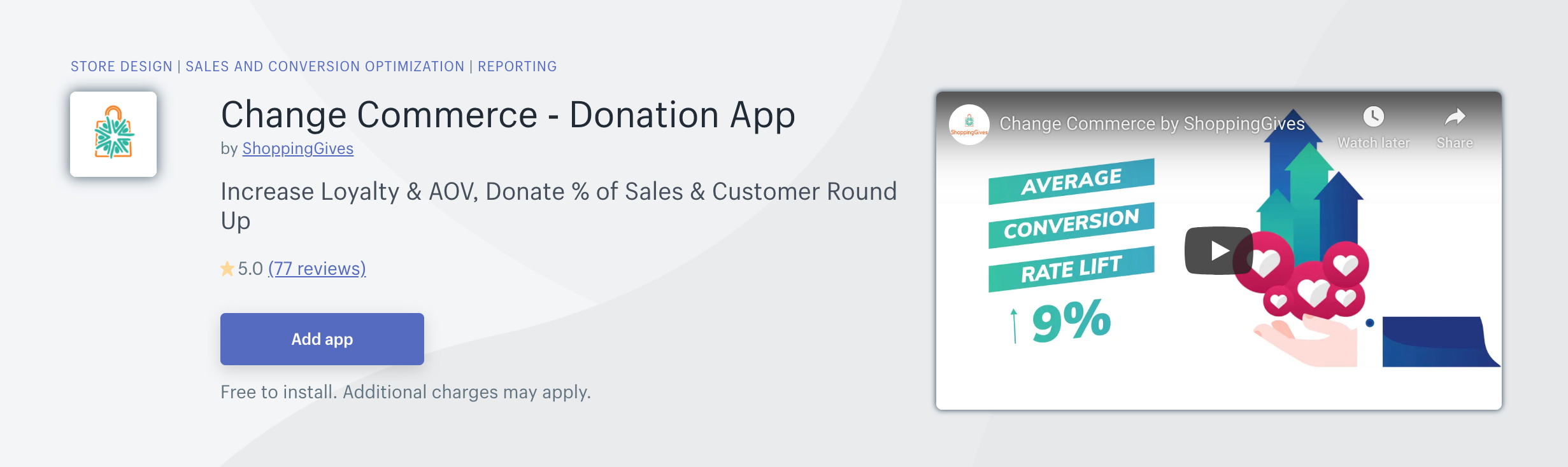 Change Commerce - Donation App
